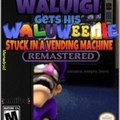 Waluigi gets his waluweenie stuck in a vending machine