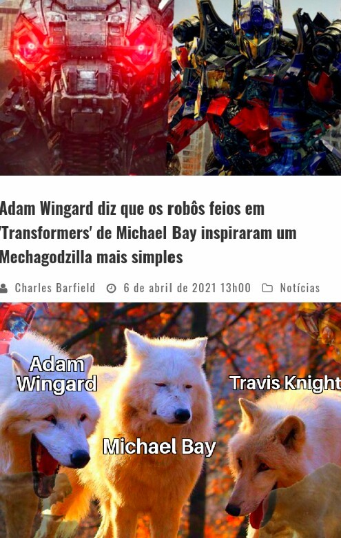 Adam Wingard gosta de transformers. - meme