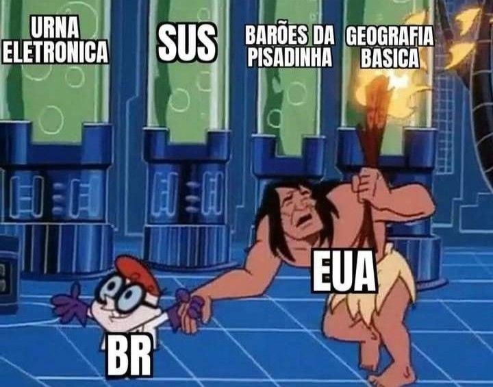 Brasil mostrando pro EUA qui tem do Brasil - meme