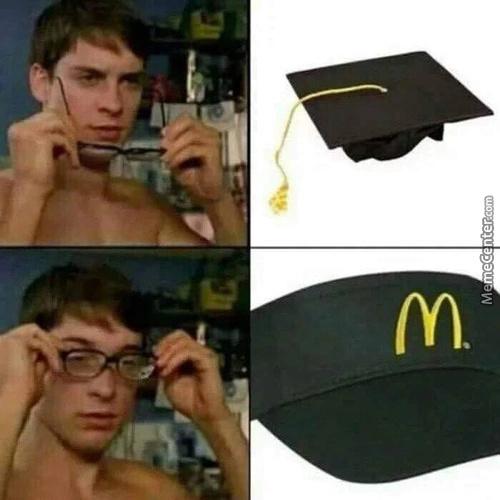 I would like some student debt with that - meme