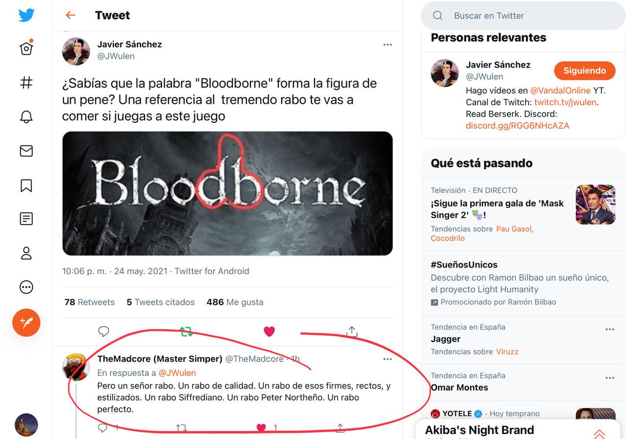 Vaya rabo que te comes con Bloodborne - meme