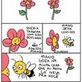 A cara de pescotapa da abelha deixa tudo melhor. Kkk