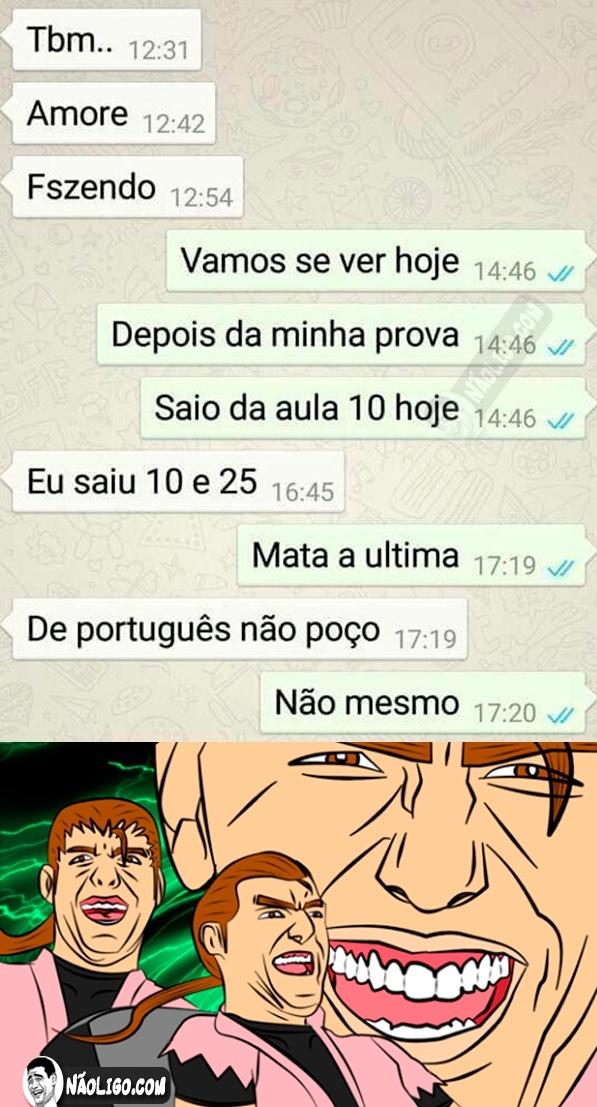 o titulo não presiza de aulas de portugeis - meme