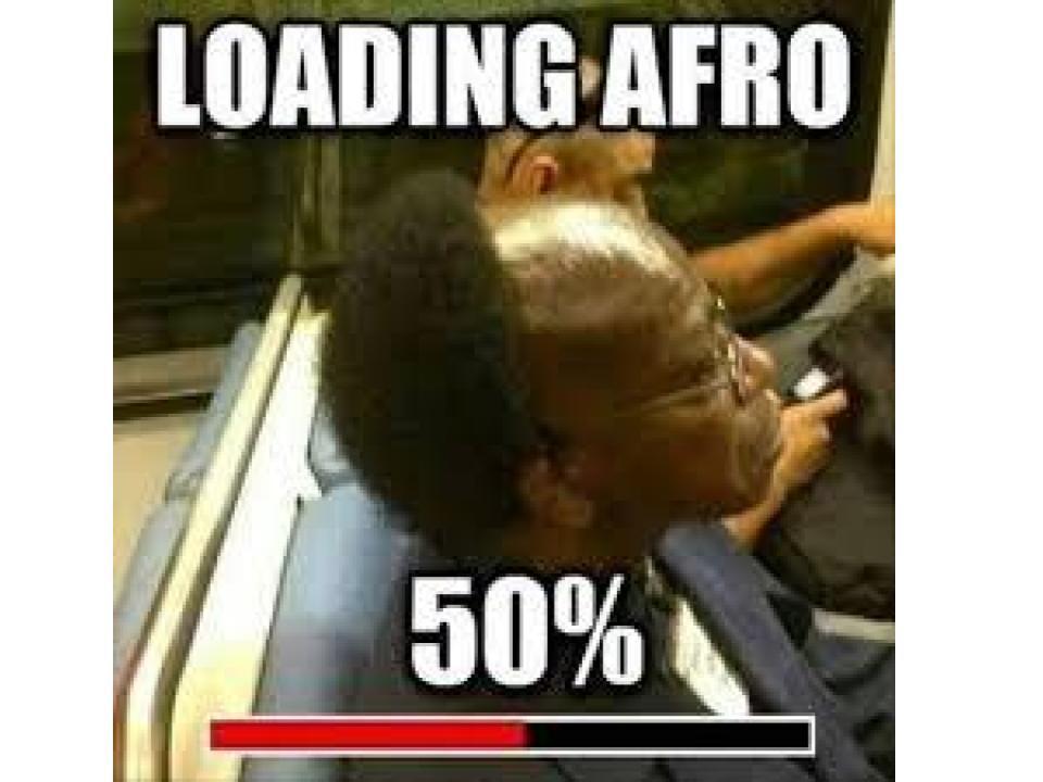 Afro Loading - meme