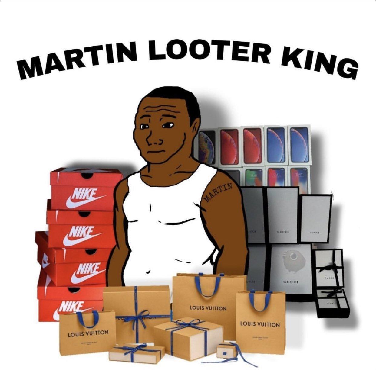 "Martin ""saqueos"" King - meme"