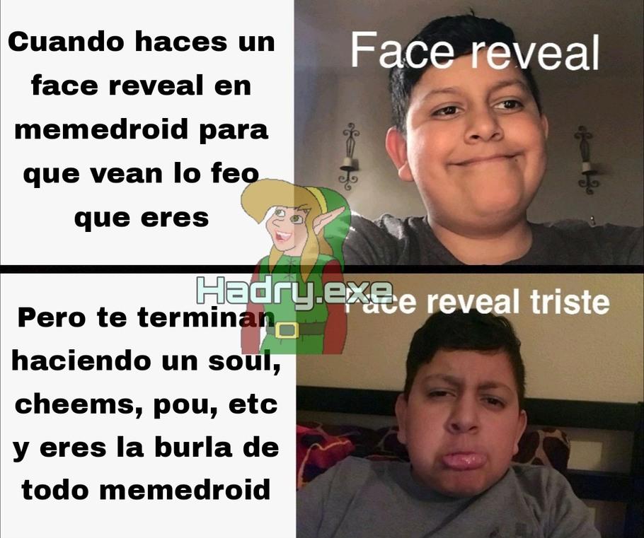 Face reveal pixar a mis 300 seguidores - meme