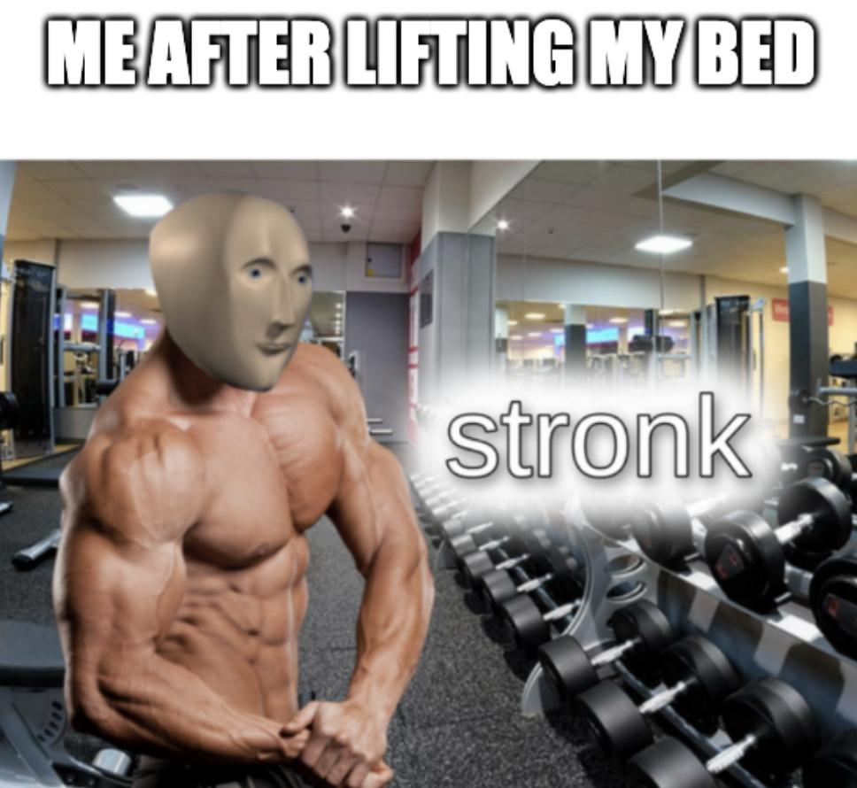 am strong - meme