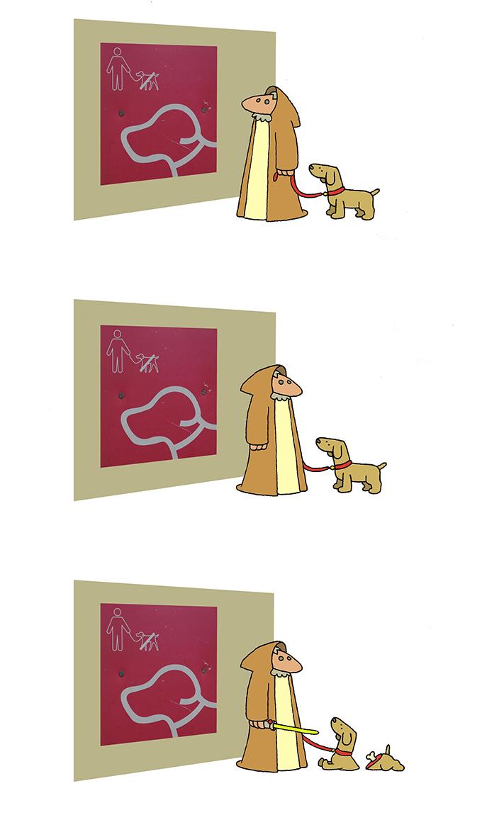 Veillez découper votre chien avant d'entrer - meme