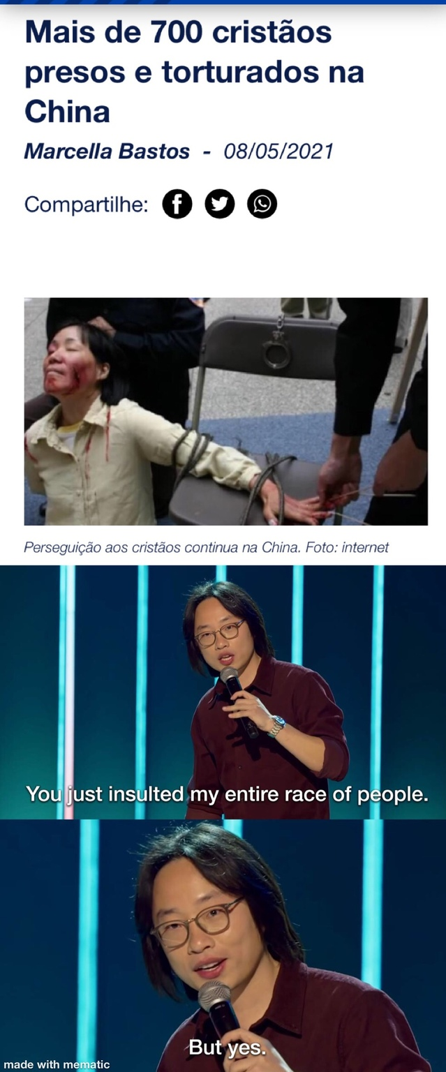 Na China é só paz e amor - meme