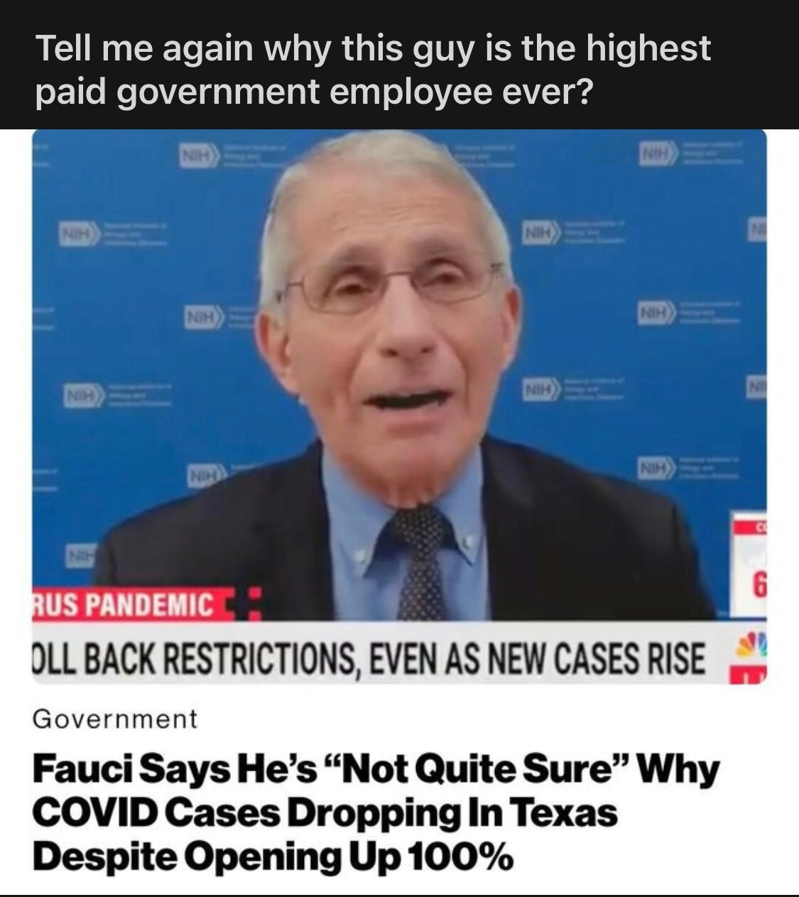 the year was 1980 and a curious fauci would skulk the halls of many american gay bars in search of promiscuous homosexual men. true story - meme