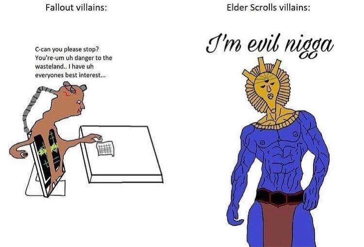 fallout vs elder scrolls - meme