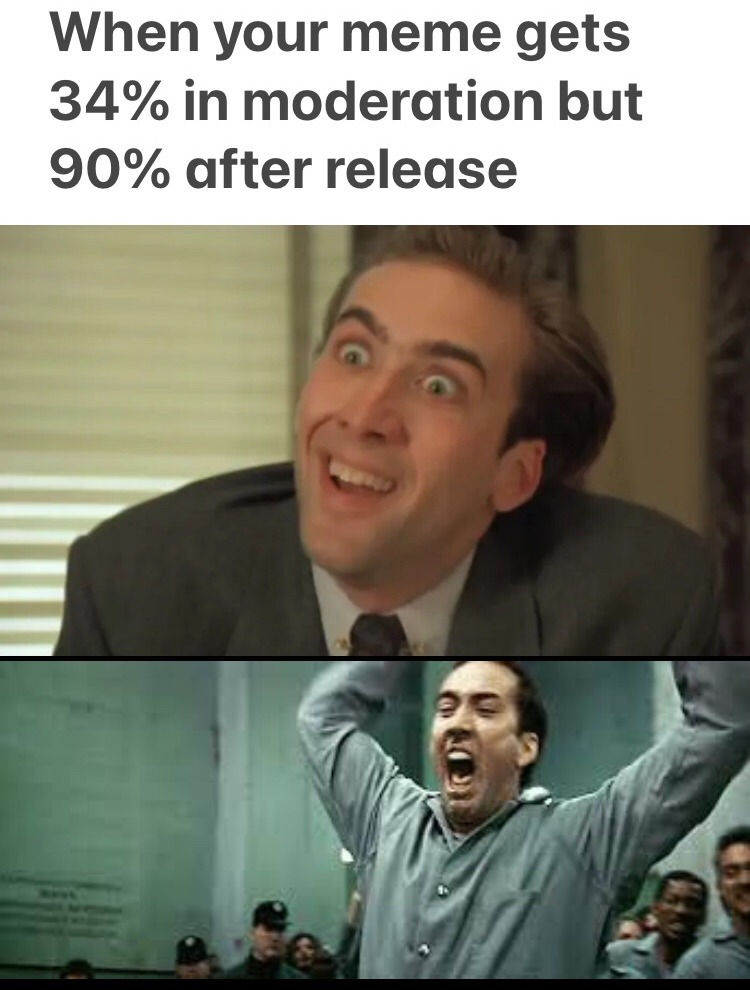 Nick Cage faces when you angry - meme