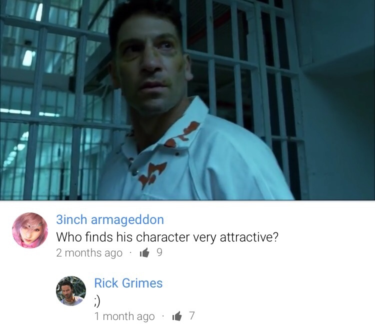 Rick has a crush on the Punisher - meme