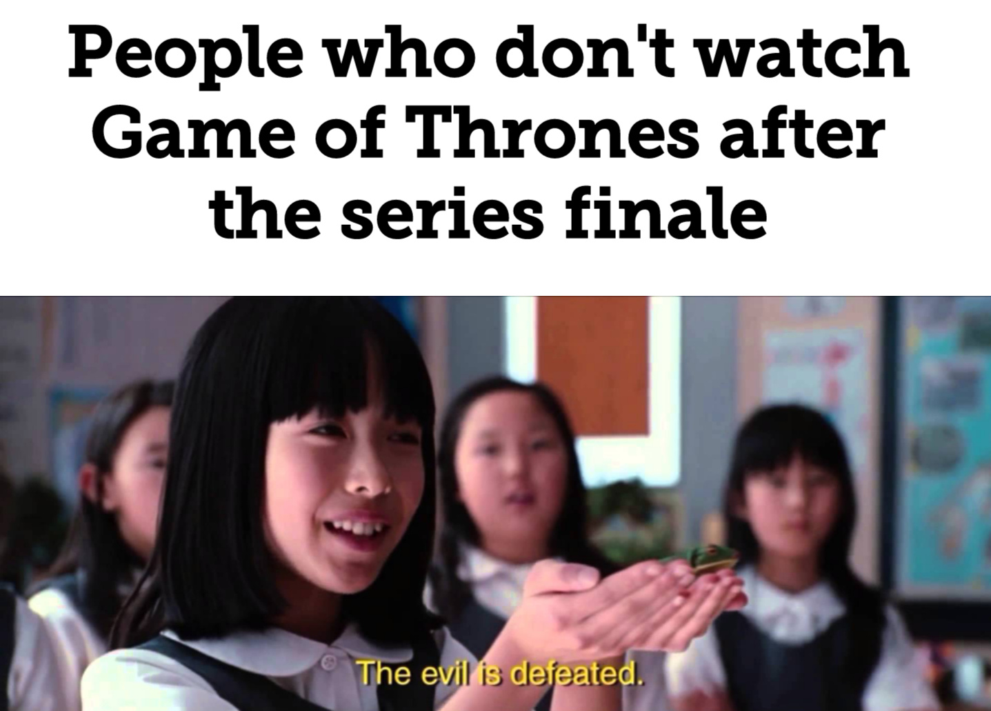 It's finally over - meme