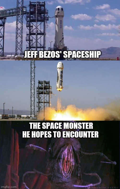 Is Jeff Bezos trying to compensate for something? - meme
