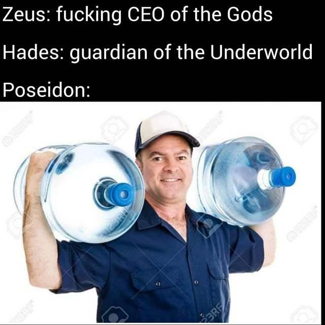 all gods have jobs - meme