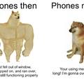Phones: Then versus now