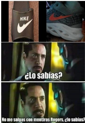 Los zapatos de mi primo no eran Nike eran hike - meme