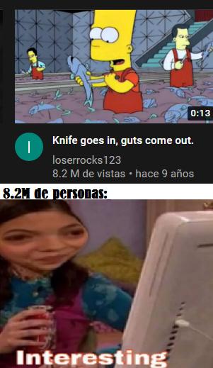 Entra cuchillo salen tripas - meme