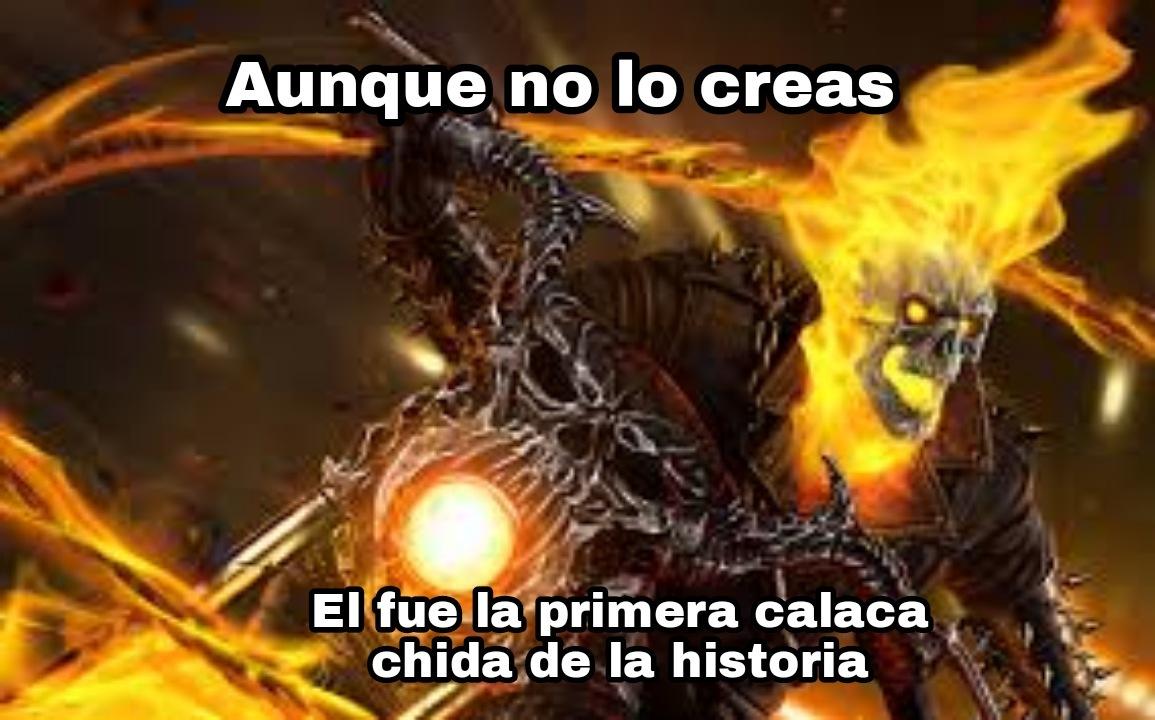 Un kpo el Ghost Rider - meme