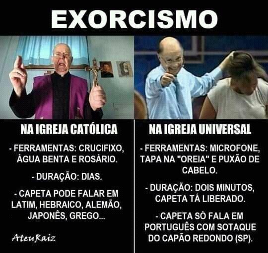 A igreja católica apostólica romana é a única e verdadeira igreja da fé cristã - meme