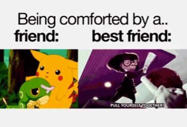 Insert Friend vs Best friend - meme