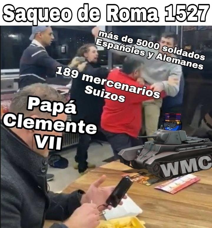 Grandes los Guardias Pontificios - meme