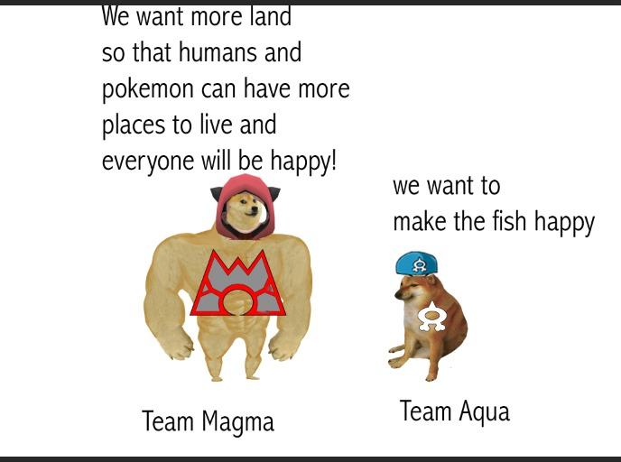 based team magma - meme