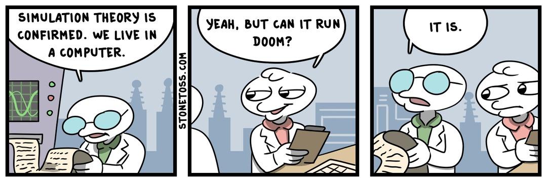 Es doom (Creditos a Stonetoss) (Aprendar a leer ingles changos incultos) - meme