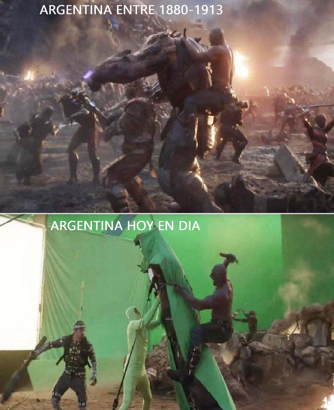 contexto: argentina en esos tiempos tuvo un gran crecimiento economico y hasta fueron potencia mundial - meme
