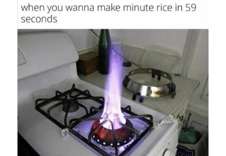 58 second rice - meme