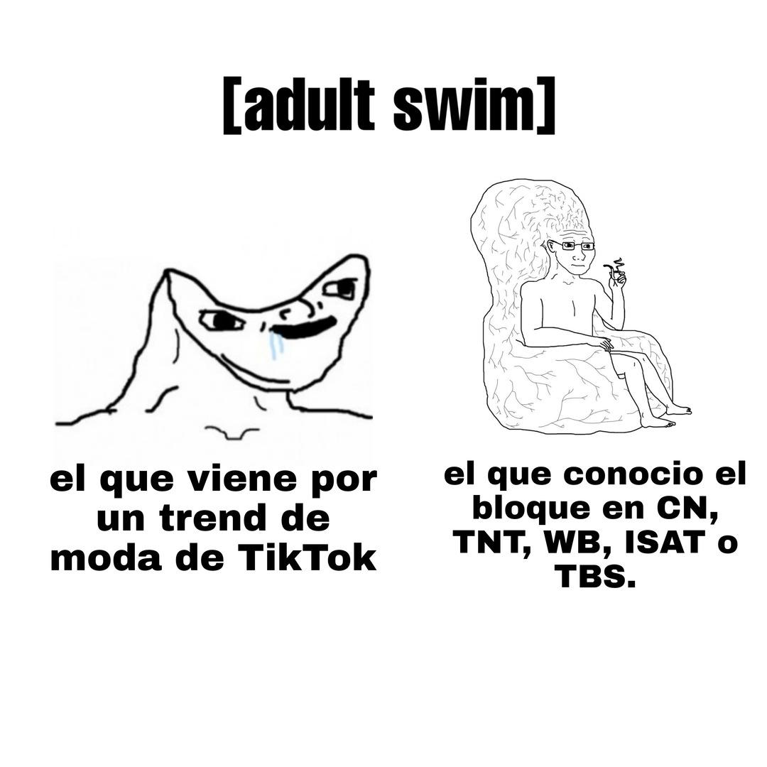 Adult Swim es un bloque, no un trend de TikTok. - meme