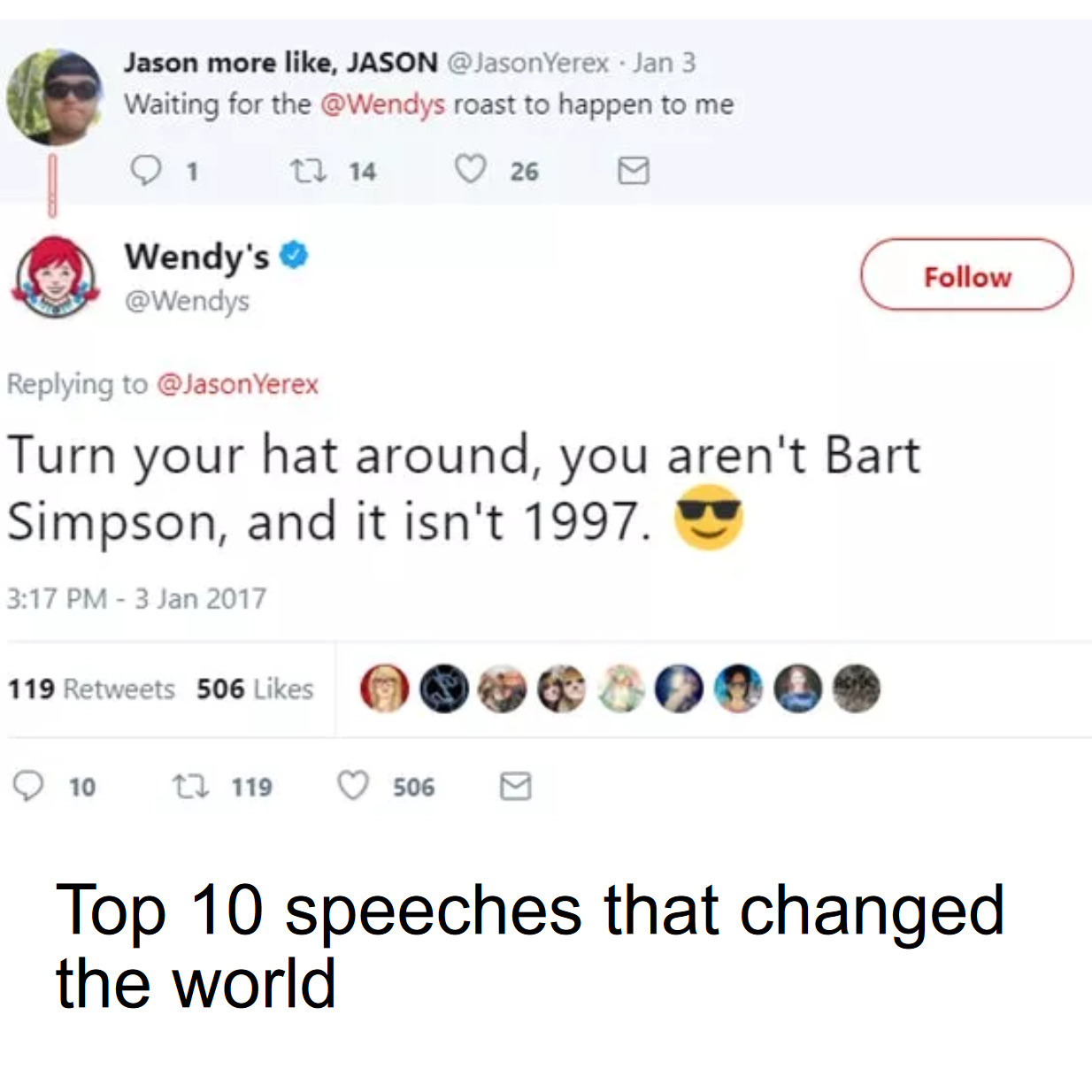 Top 10 speeches - meme