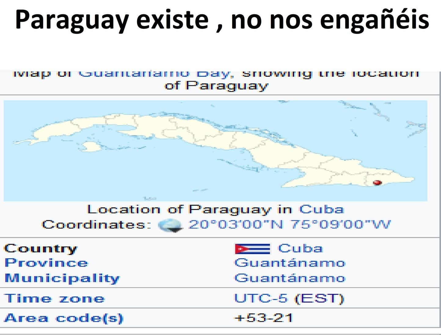 paraguay existe - meme