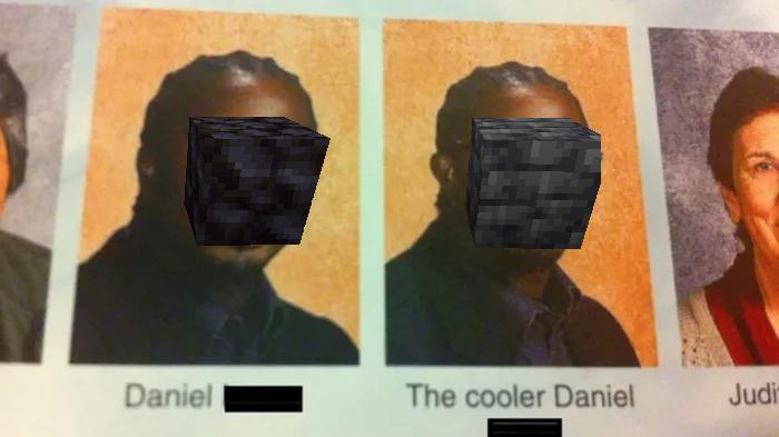 Contexto: el segundo es un bloque nuevo que agregaron a minecraft - meme