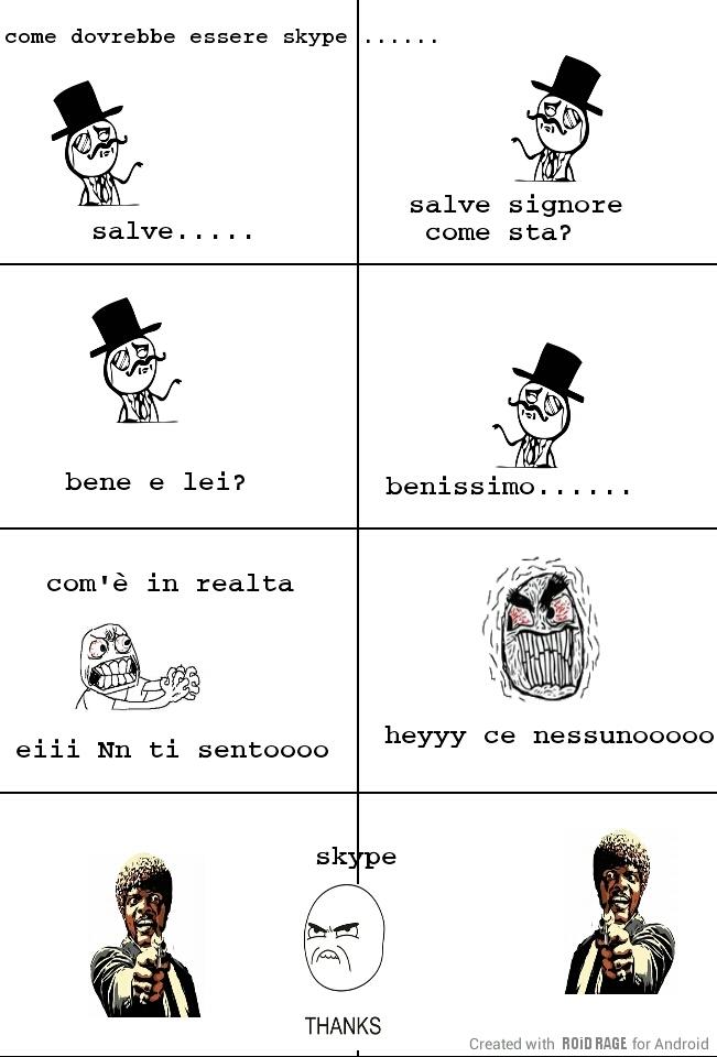 skype tarocco - meme