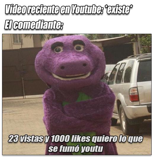 Barney periquero - meme