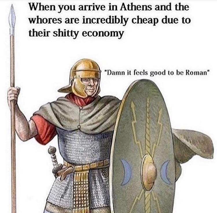 damn it feels good to be Roman - meme