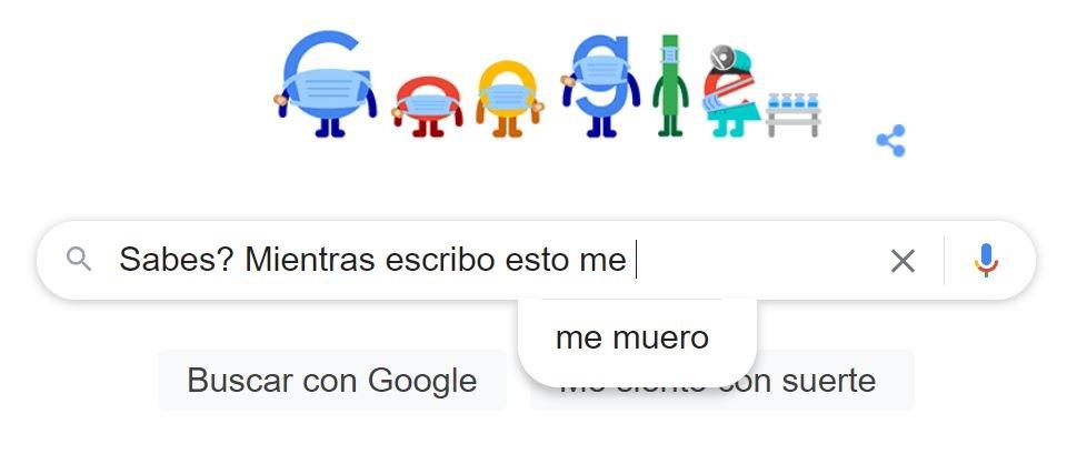 Google se puso medio turbinas ._.XD (Se que es un screenshot con poca gracia) - meme