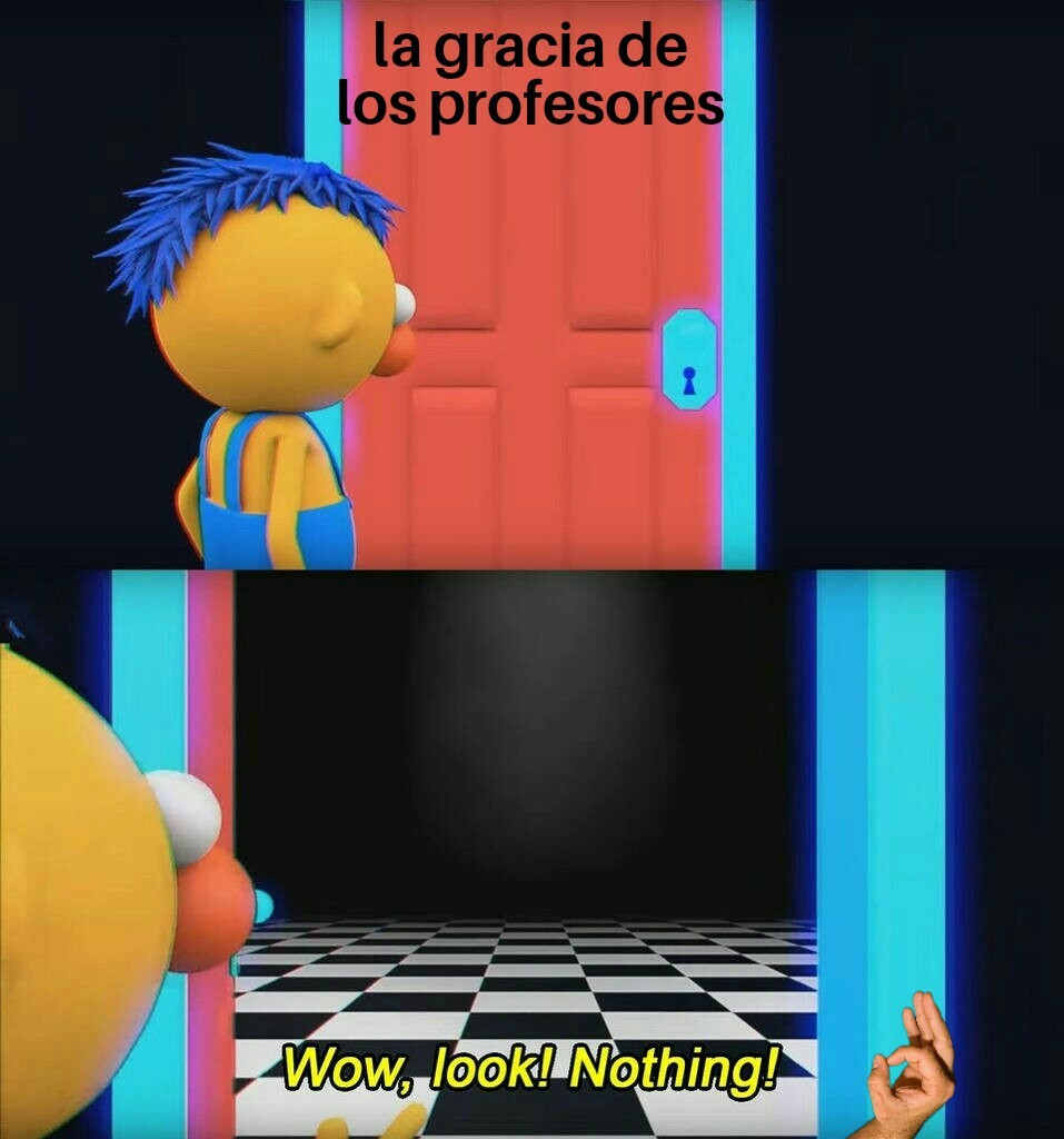 La gracia de los profesores - meme
