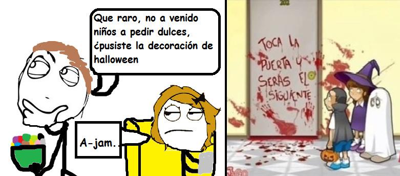 La decoración de halloween - meme