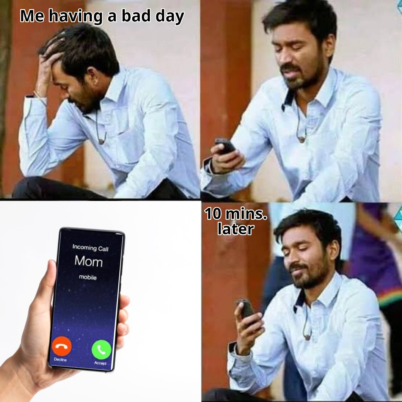 The template is Indian but that feeling is universal - meme