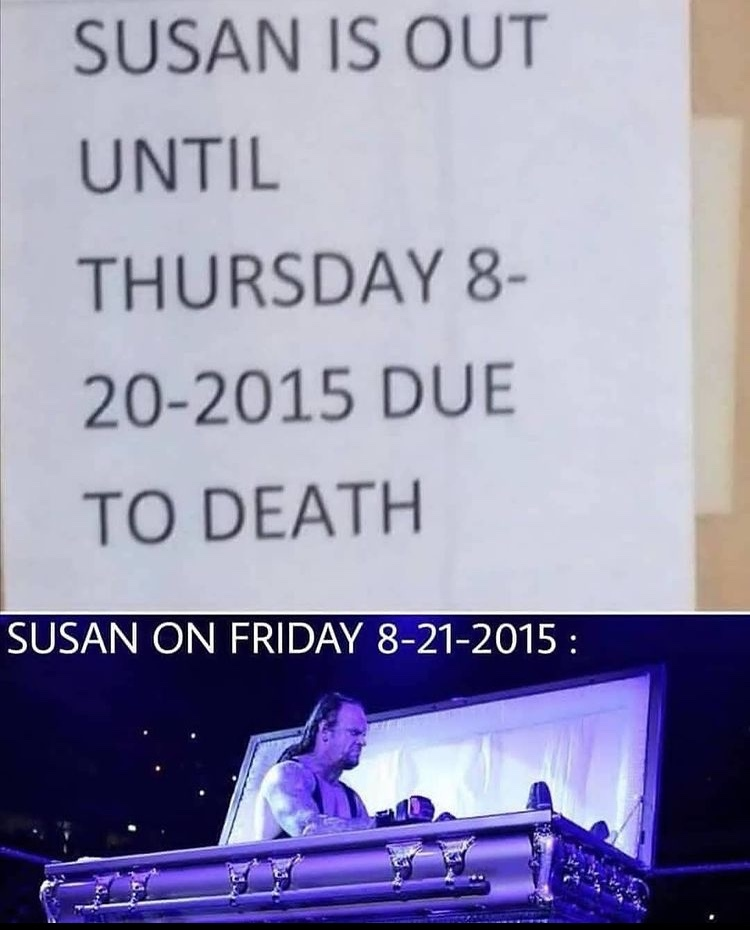 Susan is back - meme