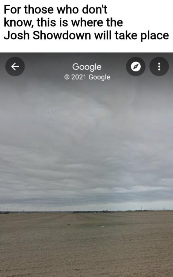 Josh showdown location - meme