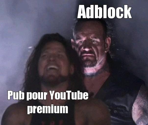Quand ont se rend compte que adblock fonctionne encore sur YouTube - meme