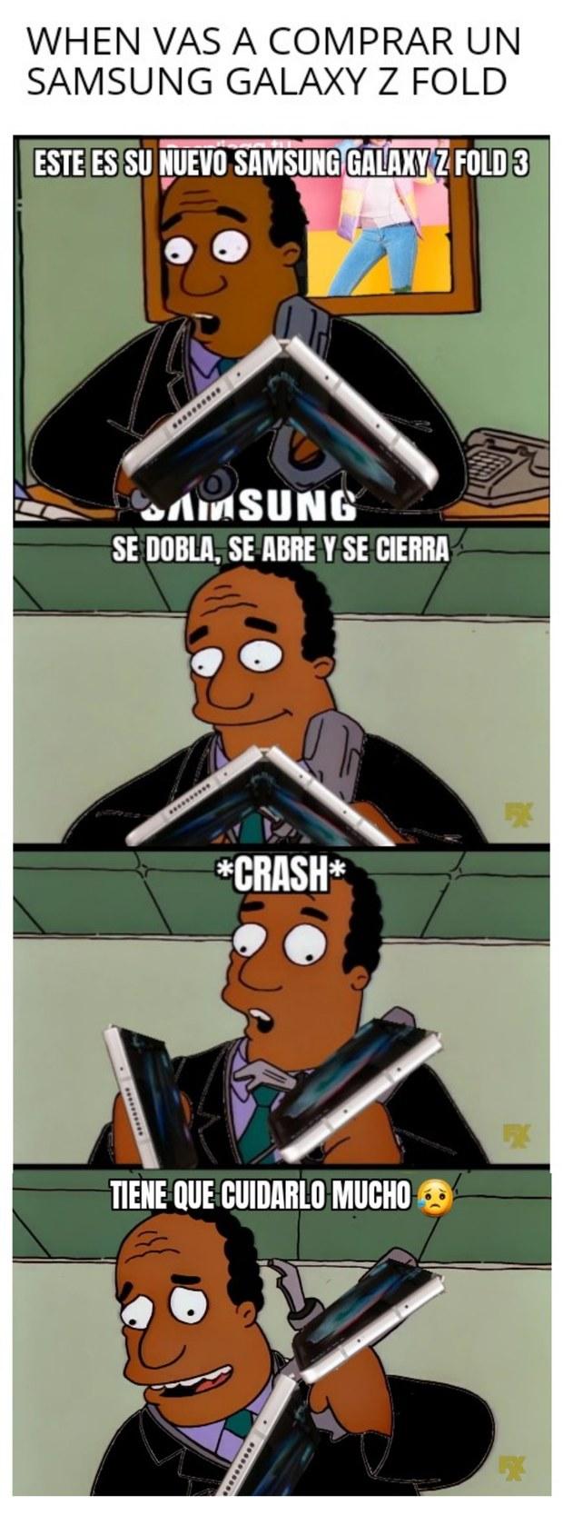 Comprando un Z Fold - meme