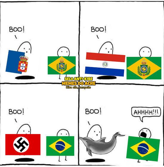 Brasil um pais inutil na guerra - meme
