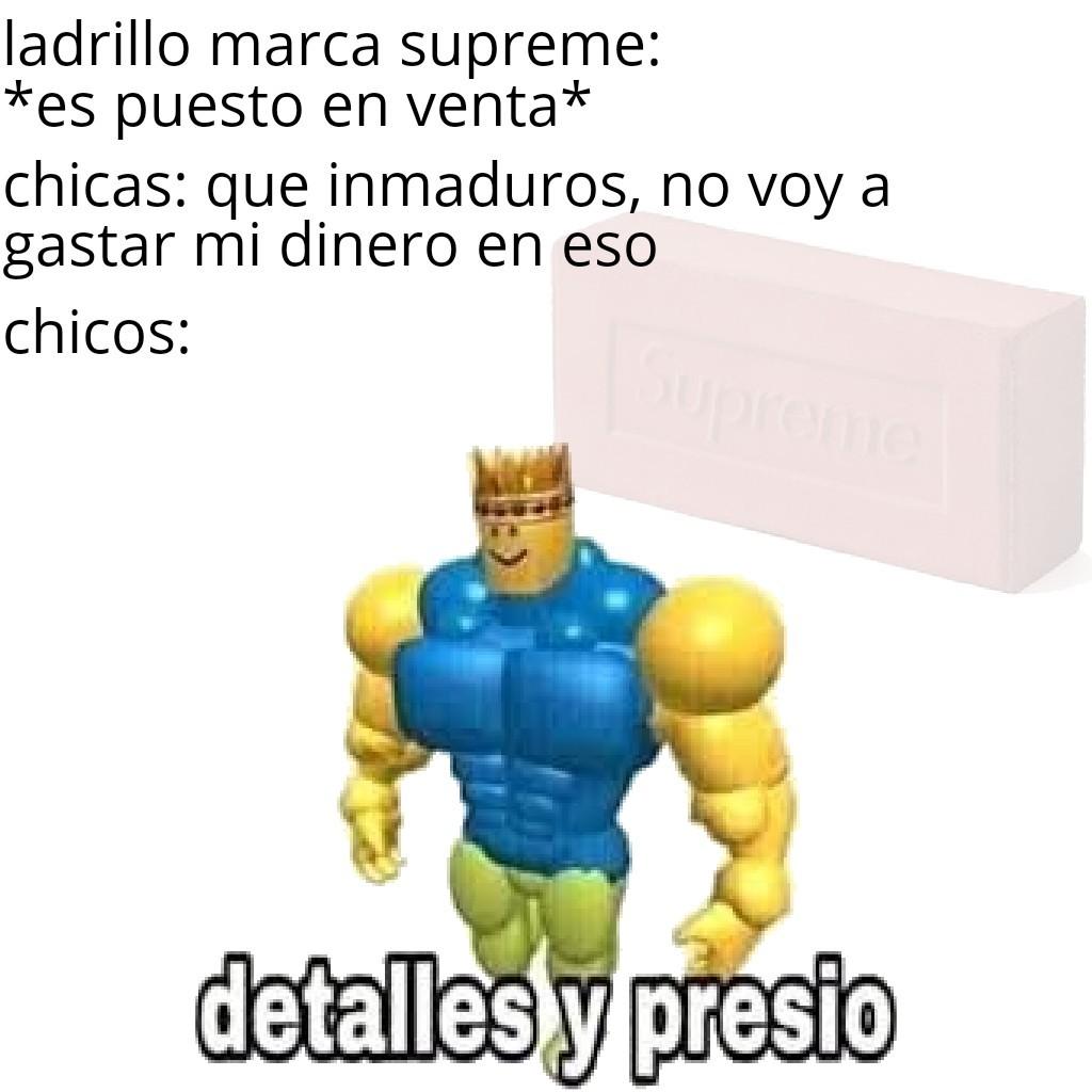 Ladrillo marca supreme - meme