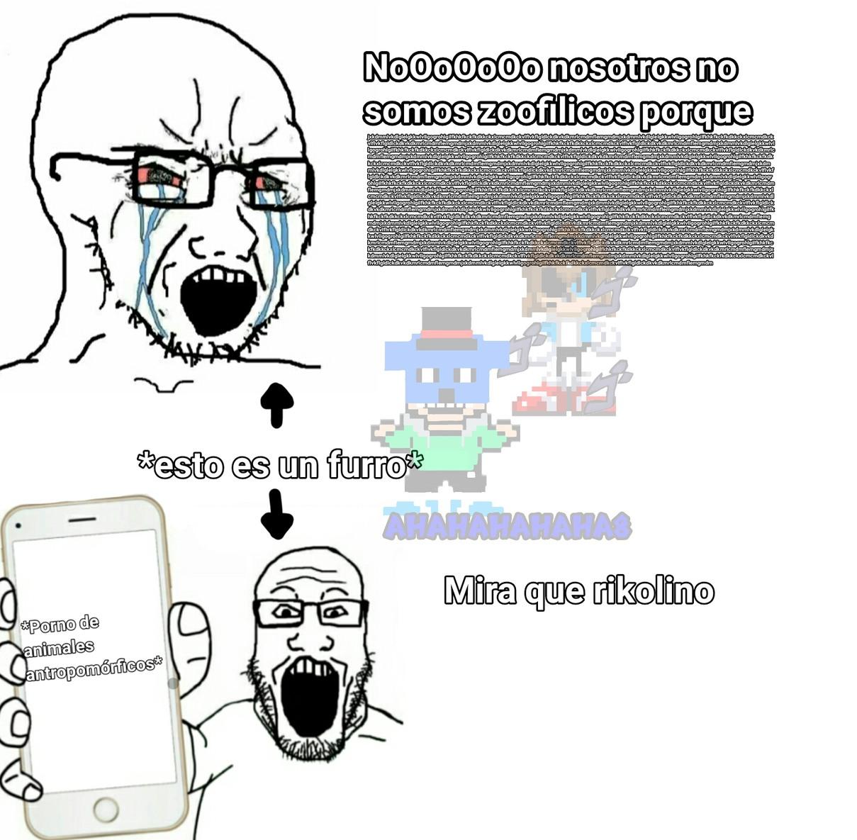 Furros qliaos hipócritas - meme