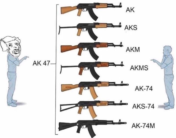 AK-45>>>>>>> - meme